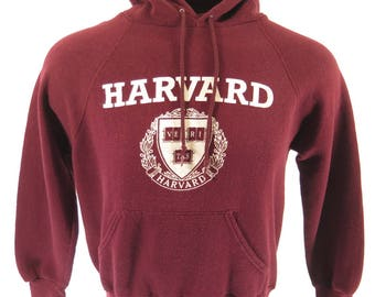 Vintage 90s Harvard University Sweatshirt Mens L College Bassett Walker USA [I03Q_1-1_Shelf]