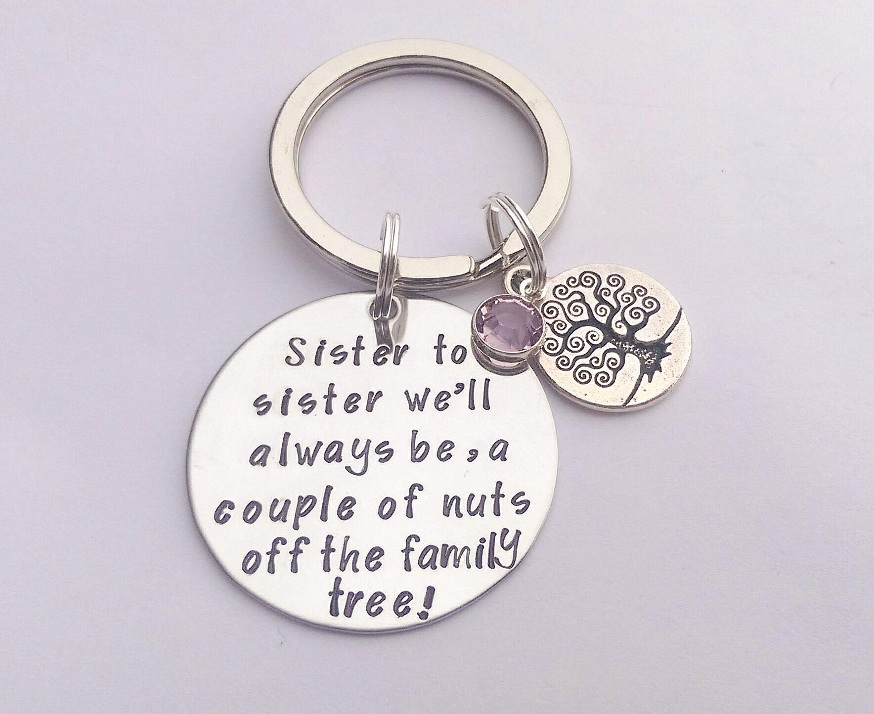 Personalised sister gift sister keyring sister birthday personalised sister gift sister keyring sister birthday present present for sister gift negle Images