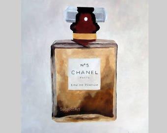 CHANEL No.5 Perfume Art Print, Fashion Gifts, Wall Art, Home Decor