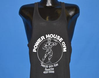 80s Power House Gym Seattle Muscle Tank Top t-shirt Mediium