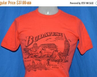 ON SALE 80s Budapest Hungary Tourist Locations t-shirt Small