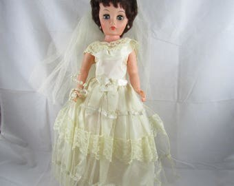 "1950s Bride Fashion Doll  19"" All Original"