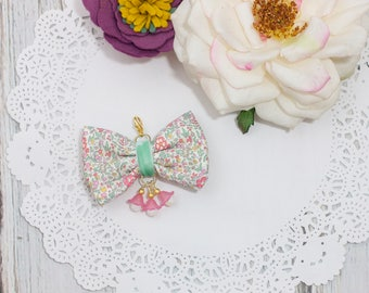 Liberty of London Fabric Bow in Katie and Millie Pastel