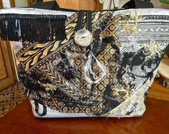 138-bag shape basket. crazy... Black, silver, gold...
