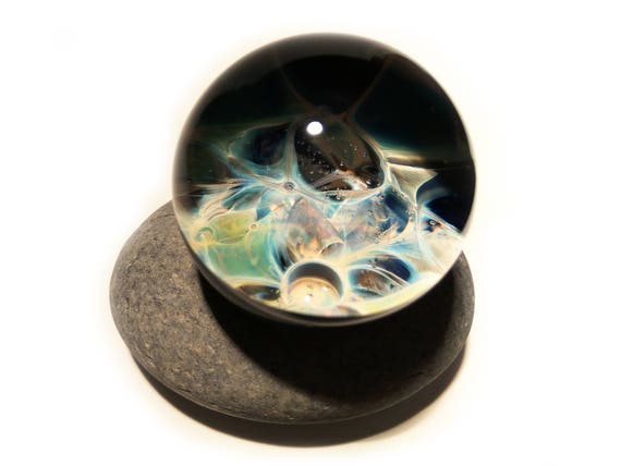 Paperweight/Marble - Neuron - Glass Art - Galaxy - Universe - Blown Glass - Glass Decor - Handmade Gift - One Of A Kind - Artist Signed