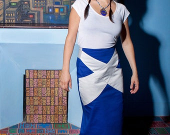 Royal Blue cotton skirt from Chilia Tama
