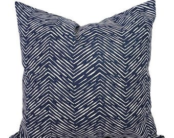 15% OFF SALE Blue Decorative Pillow Covers - Two Navy Chevron Throw Pillow Covers - Navy Chevron Pillow - Navy Accent Pillows - Decorative P