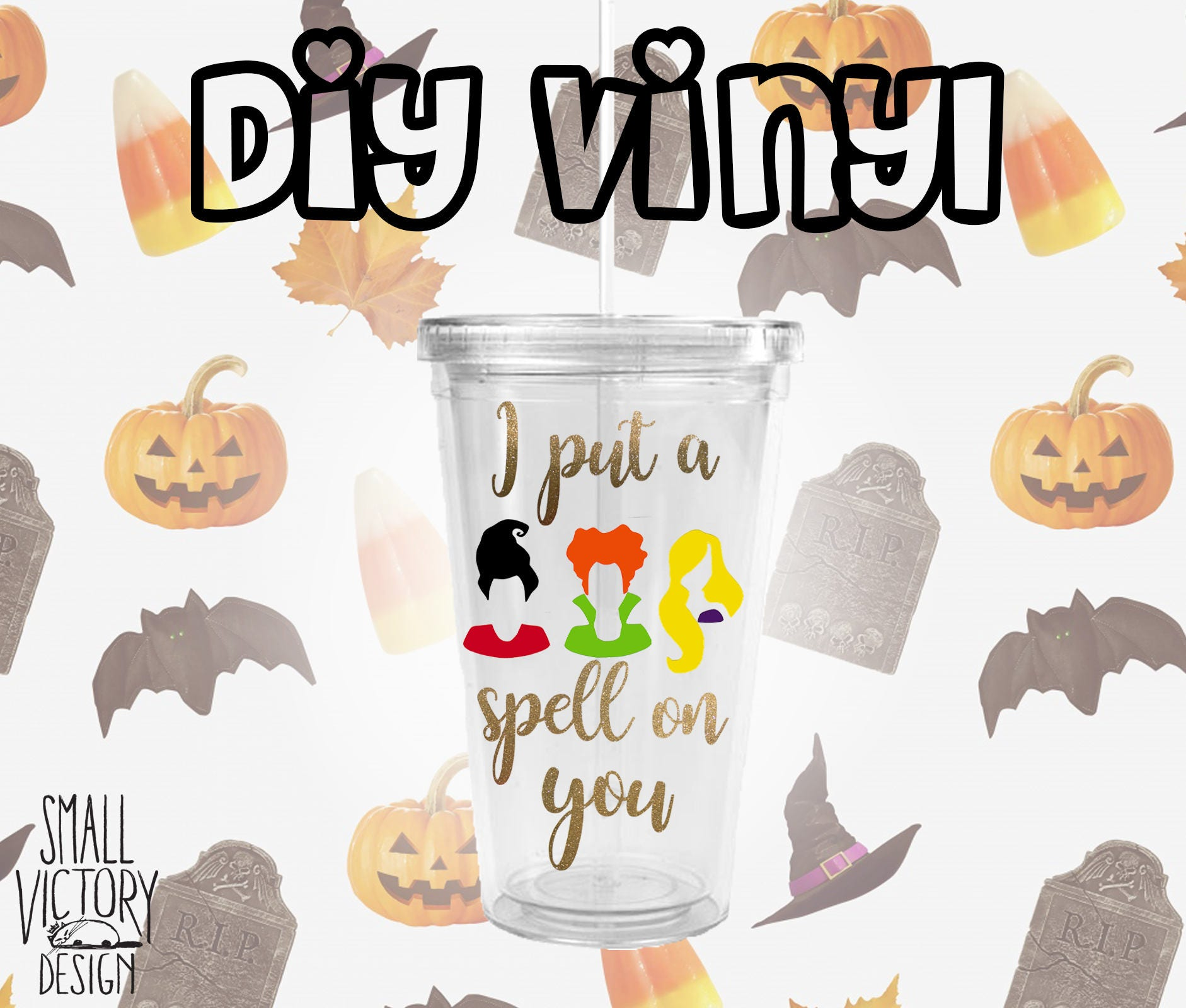 Uncategorized Diy Vinyl Stickers i put a spell on you hocus pocus diy vinyl decals vinyl