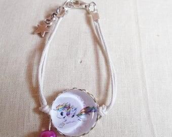 Unicorn cabochon bracelet