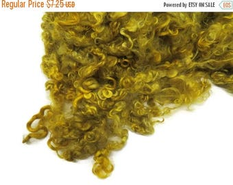 SALE 1 oz Prime Yearling Mohair wool locks , colour Dijon Yellow