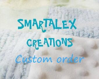 Special Order for Karen - One infant car seat blanket cover
