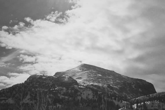 Lone Mountain Black and White Fine Art Photography Print