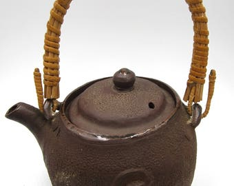 Antique Japanese Banko clay  teapot, dragon & tiger