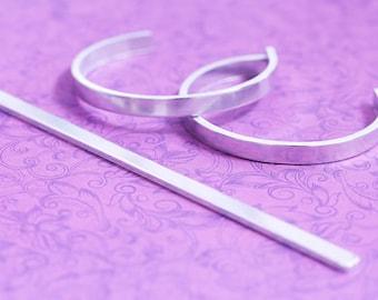 6 by .25 152.4mm x 6.35mm  Cuff Bracelet Blank