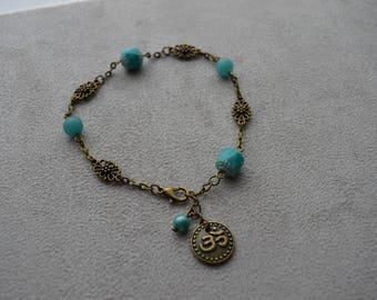 """Sahari"" ankle chain composed of Czech glass bead"