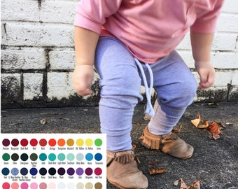 Solid Color Pants - Baby Joggers - toddler joggers - Custom Pants - Toddler - Baby clothes - Comfy Toddler pants - Baby pants -