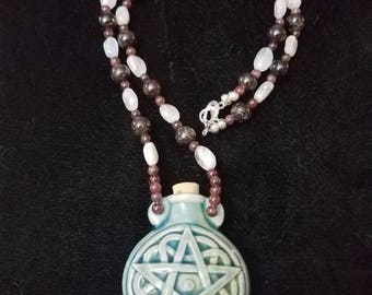 Pentacle vessel necklace