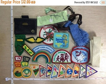 10% OFF 3 day sale Vintage Lot Girl Scout Patches Memorabilia Used