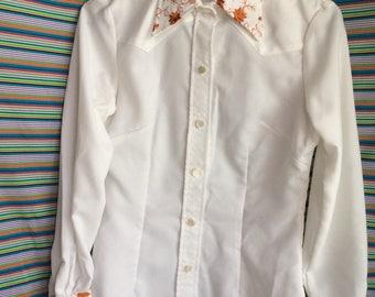 Vintage urban cowboy shirt blouse top size small
