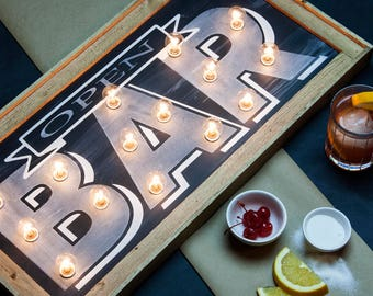 Chalkboard Bar Marquee Light Sign
