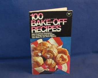 Pillsbury 100 BAKE-OFF RECIPES 1969 Cookbook 20th Annual