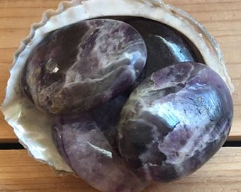 Amethyst Palm Stone, Healing Crystals, Healing Stones, Spiritual Stone, Chakra Stone