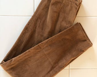 Brown rust high waisted vintage pants