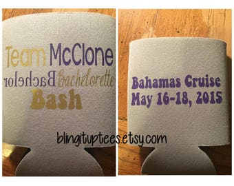 Bachelor Party Bachelorette Party Custom Can Cooler