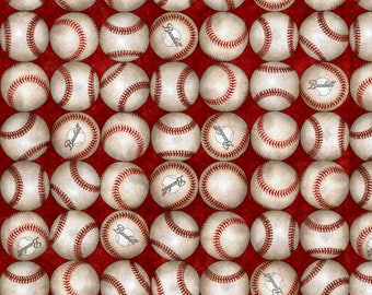 Baseball Fabric by Dan Morris for Quilting Treasures - Baseball Cards Game Sports - 100% Quality Cotton by the Yard or Yardage