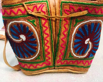 Fab embroidered cross body bag