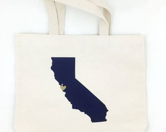 Set of 12 California Wedding Favors, Wedding Guest Tote Bags, Wedding Welcome Bags, Event Party Favors