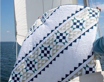 Canvas Lines - printed quilt pattern - a modern pattern - baby, lap, and queen sizes
