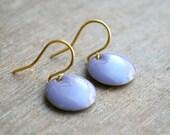 Ultra violet enamel earrings // minimalist earrings // women gift ideas // Pantone color of the year