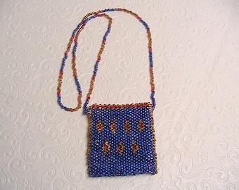 Seed Bead Mini Bag, Little Tiny Glass Seed Bead Bag, Handled Mini Seed Bead Pouch Purse
