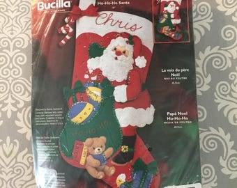 Bucilla Felt Christmas Stocking Kit - Ho Ho Ho Santa