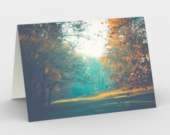 Autumn Scene Cards, Blank Note cards, Nature Note Cards, Greeting Cards, Three Note Cards, 5x7 Cards, Autumn Art Card, All Occasion Cards