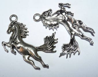 4 charms galloping horse pendant for rider jewelry for lovers of horses
