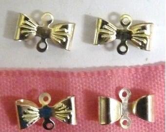 8 connectors bows silver pendants jewelry 1.2 cm