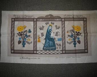 Gocken Jobs - Jobs Handprint - Sweden -Tapestry - Wall Hanging - Mid Century - Scandinavian Design -