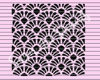 Art deco stencil  MC0115