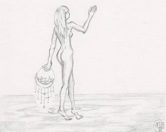 Soft Urgings, Original pencil drawing