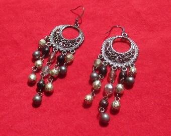 Retro Dangling Beaded Pierced Earrings TLC