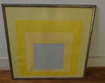 """Josef Albers """"Homage to the Square: With Rays"""" Framed MOMA Poster"""