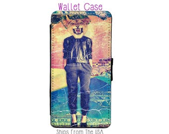 iPhone 6S Plus Case - iPhone 6S Plus Wallet Case - iphone 6S Plus - iPhone 6S Plus Wallet - Lioness