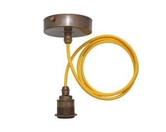 Brass Pendant Light | Edison Screw Pendant Set | Vintage Brass Finish  sc 1 st  Etsy & Edison pendant light | Etsy azcodes.com