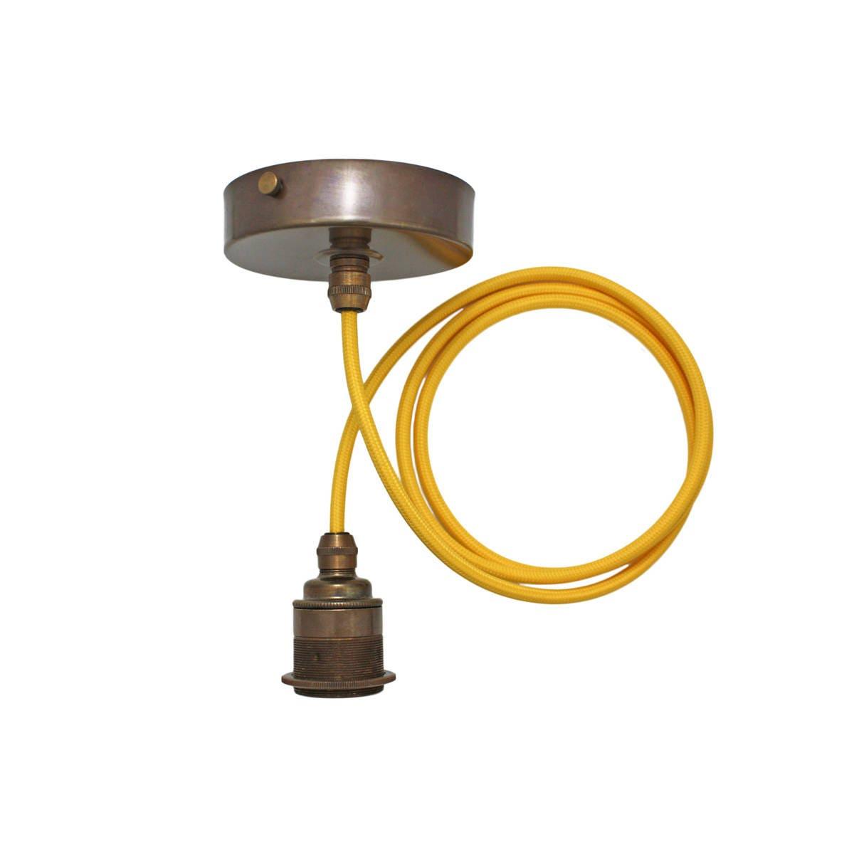 Brass Pendant Light Edison Screw Pendant Set Vintage Brass