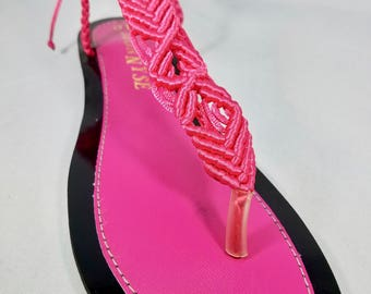 Pink T-Strapped Sandals