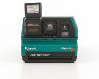Green Polaroid Impulse AF (AutoFocus) instant 600 style camera - Tested - Guaranteed Working Polaroid 600 Rare