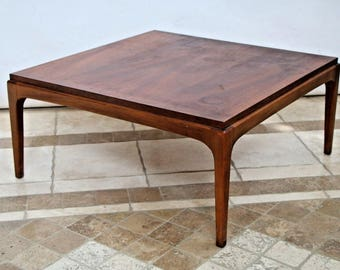Mid Century Modern MCM Square Coffee Table by Lane Walnut style no. 99717 Nationwide shipping available please call for rate