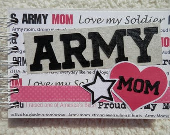4x6 US Army Mom Chipboard Mini Scrapbook
